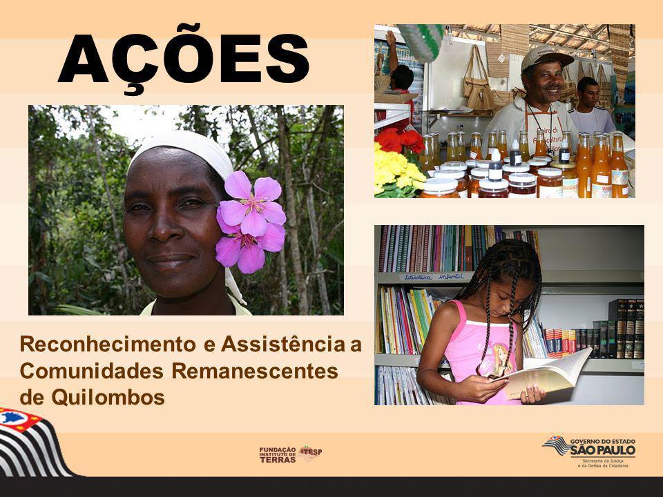 AÇÕES Reconhecimento e Assistência a Comunidades Remanescentes de Quilombos