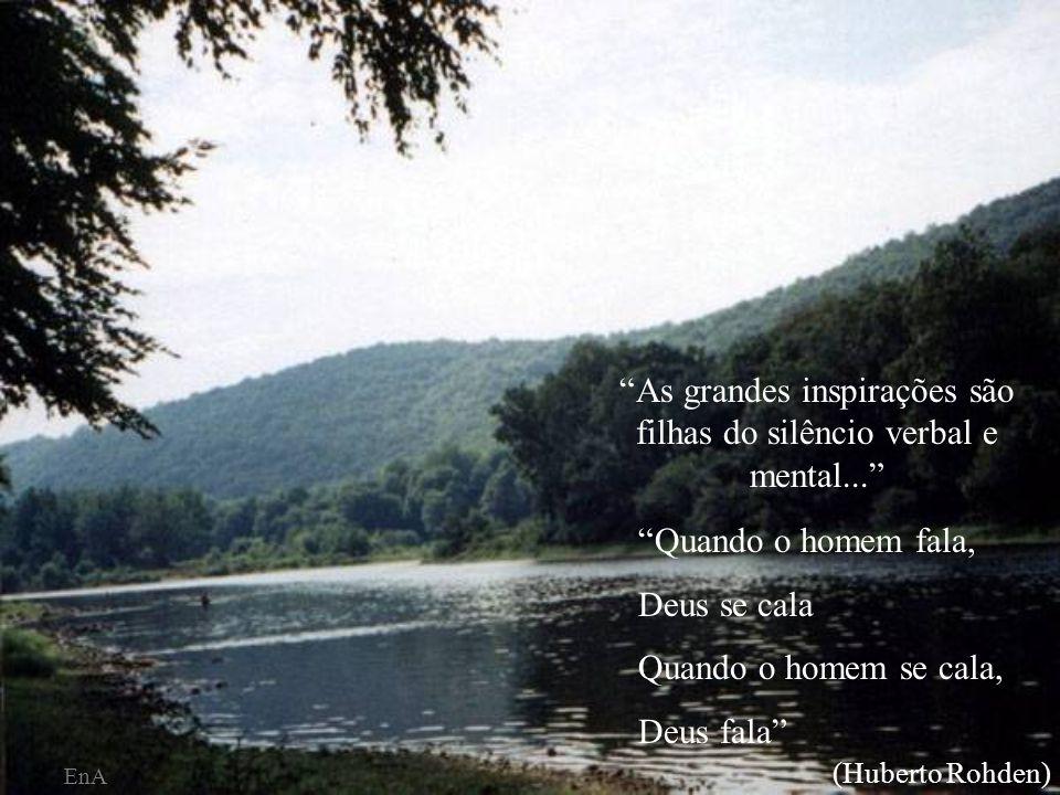 As grandes inspirações são filhas do silêncio verbal e mental...