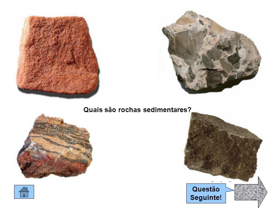 Quais são rochas sedimentares