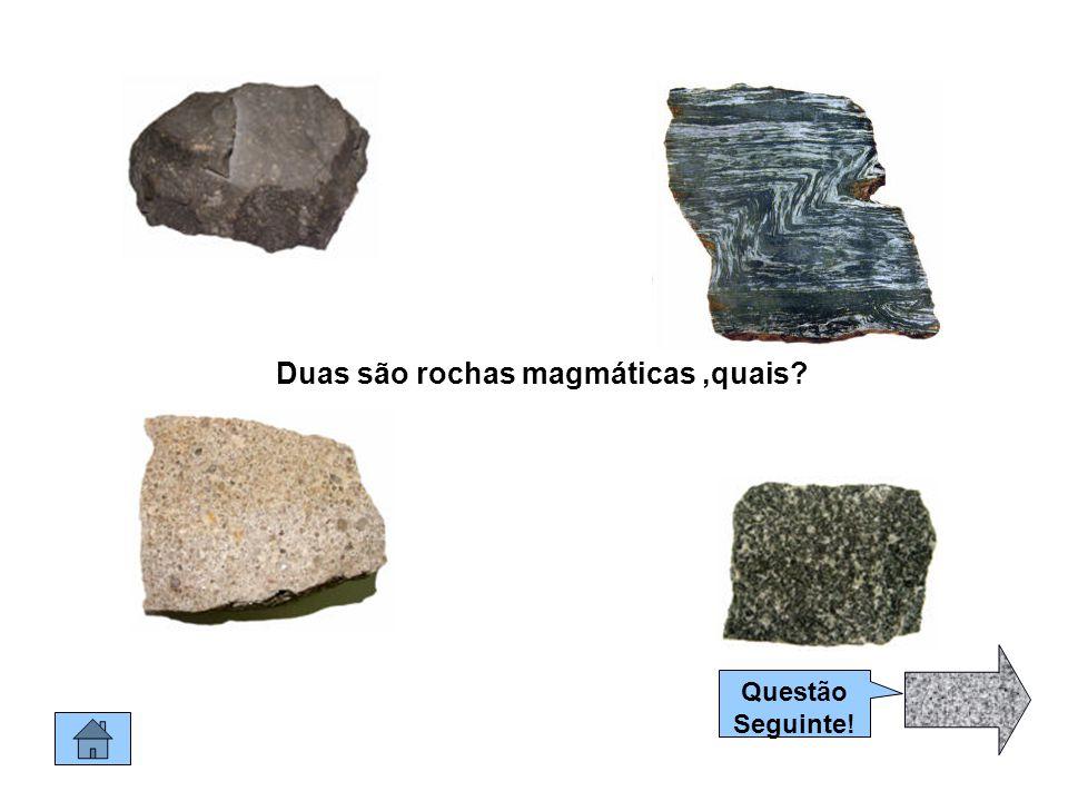 Duas são rochas magmáticas ,quais