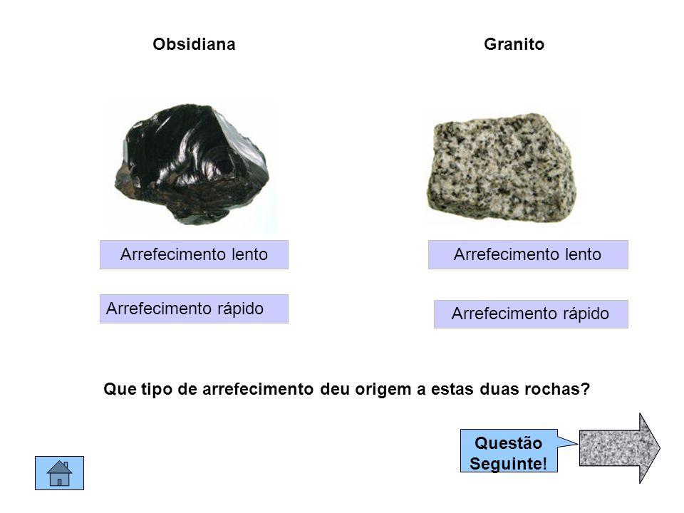 Que tipo de arrefecimento deu origem a estas duas rochas