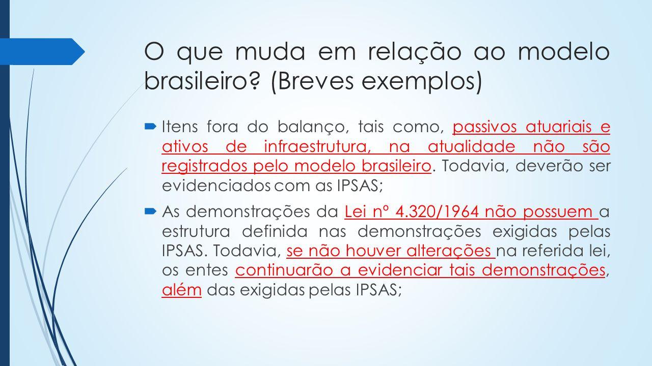 O que muda em relação ao modelo brasileiro (Breves exemplos)