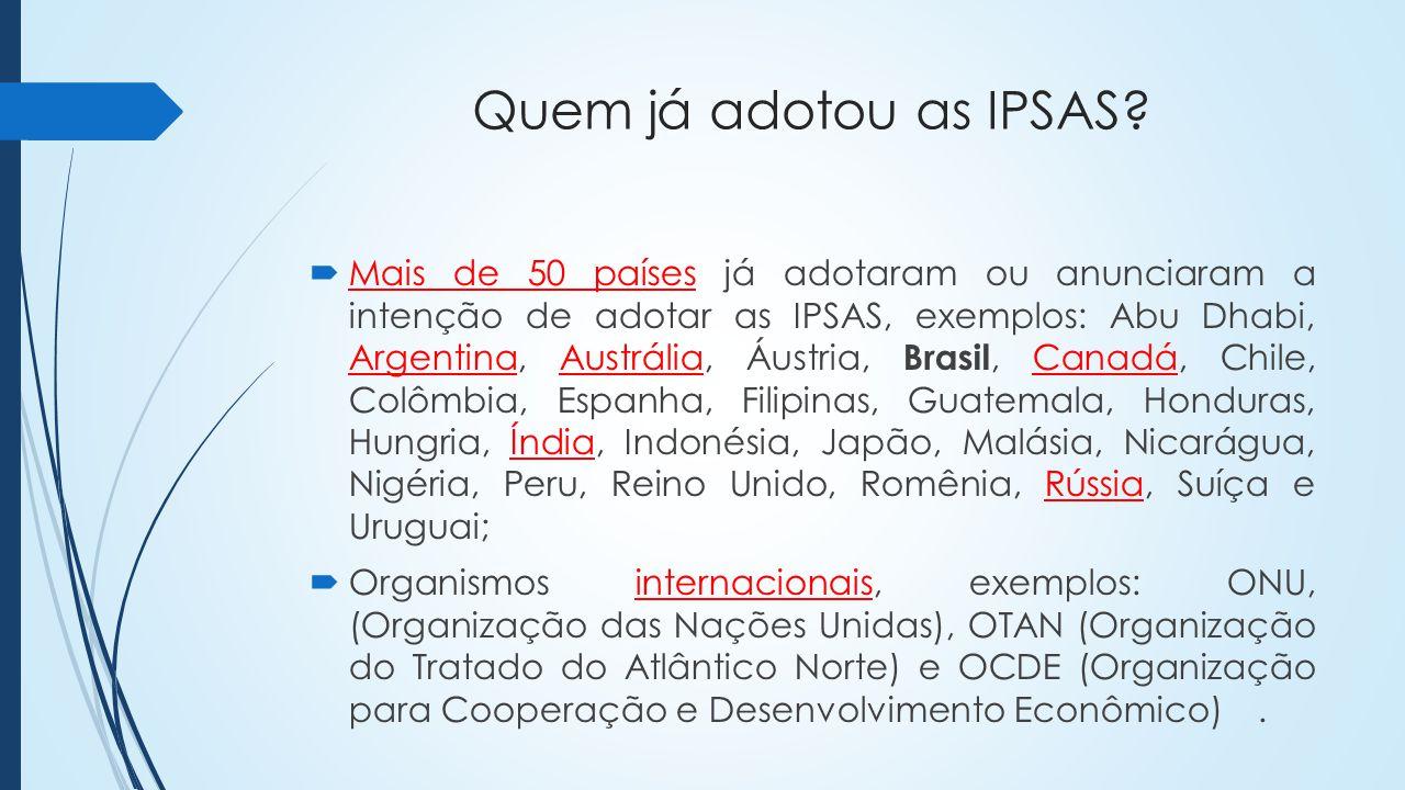 Quem já adotou as IPSAS