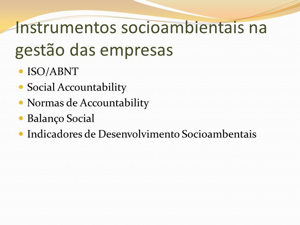 Instrumentos socioambientais na gestão das empresas