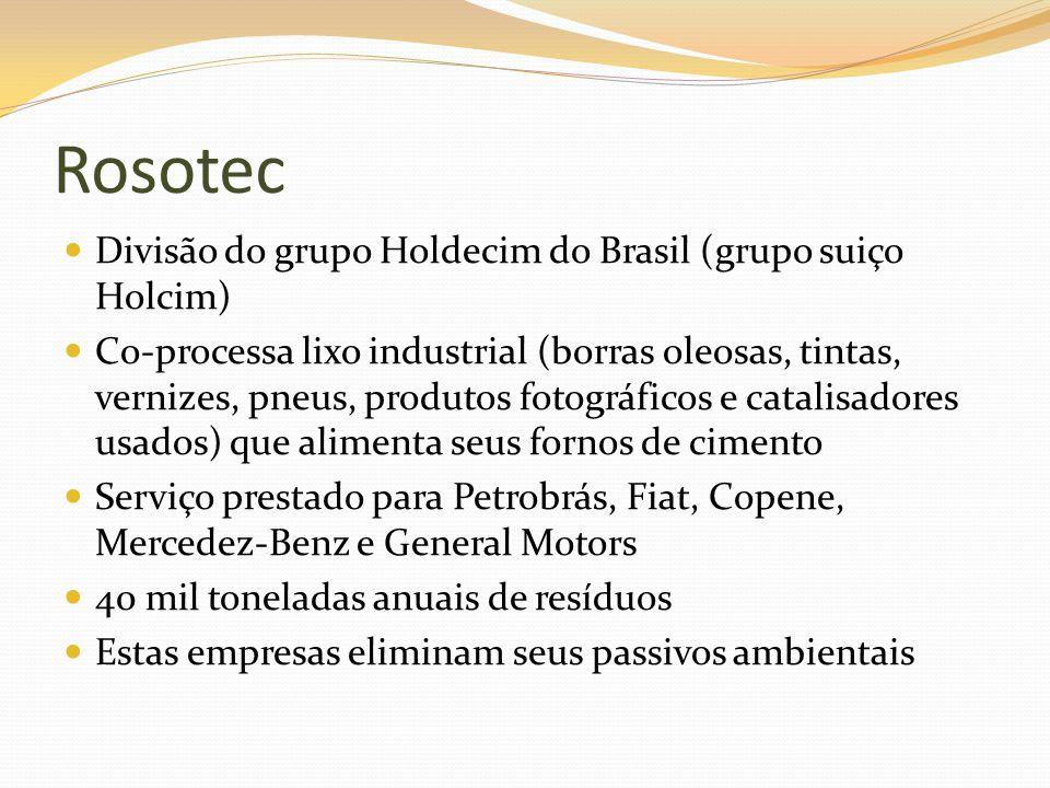 Rosotec Divisão do grupo Holdecim do Brasil (grupo suiço Holcim)