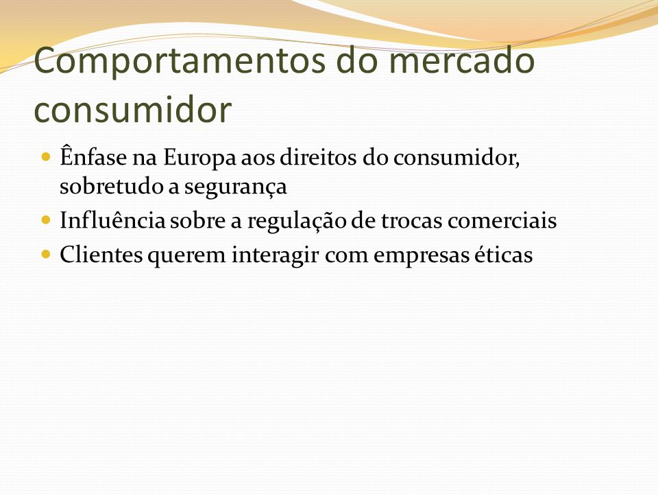 Comportamentos do mercado consumidor