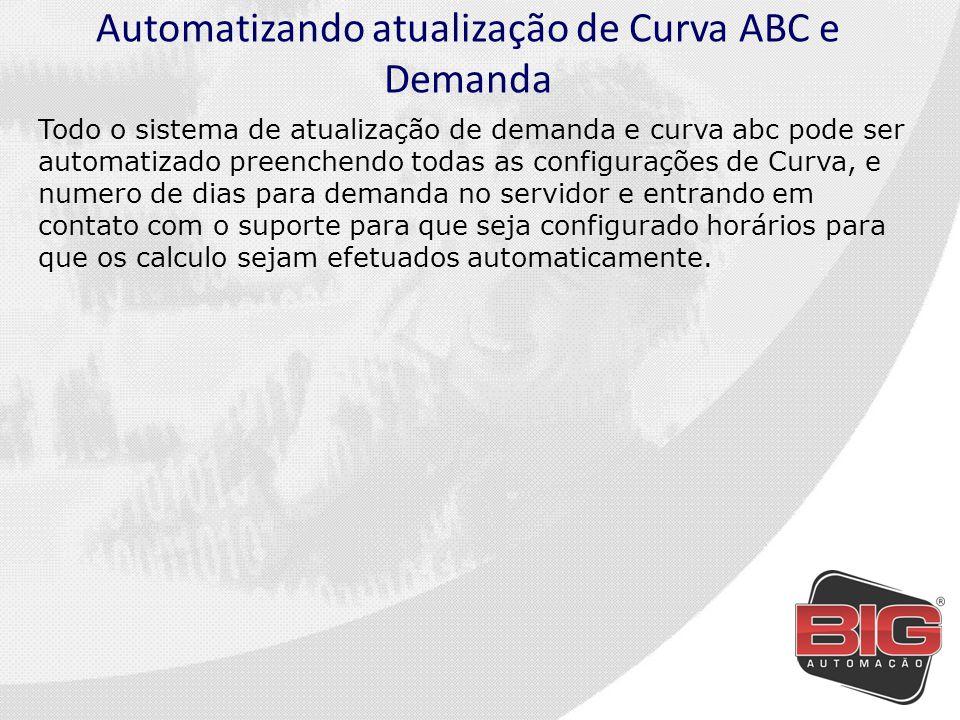 Automatizando atualização de Curva ABC e Demanda