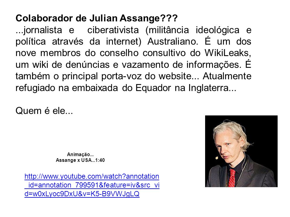 Colaborador de Julian Assange