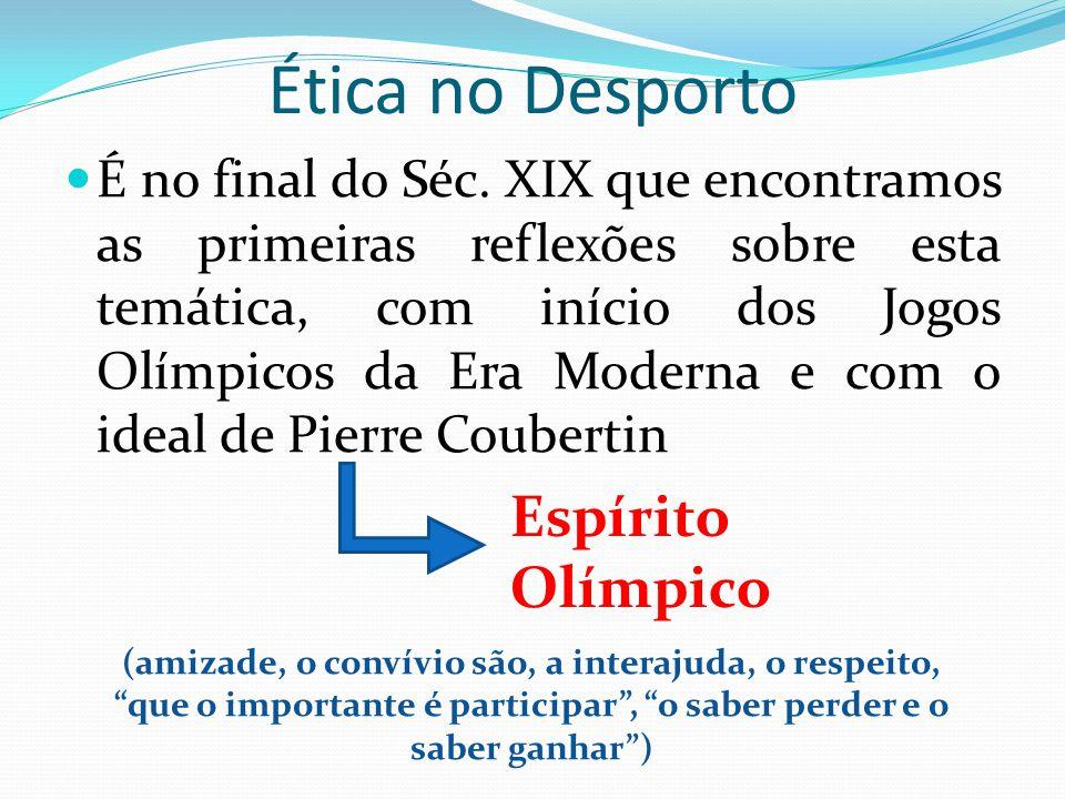 Ética no Desporto Espírito Olímpico