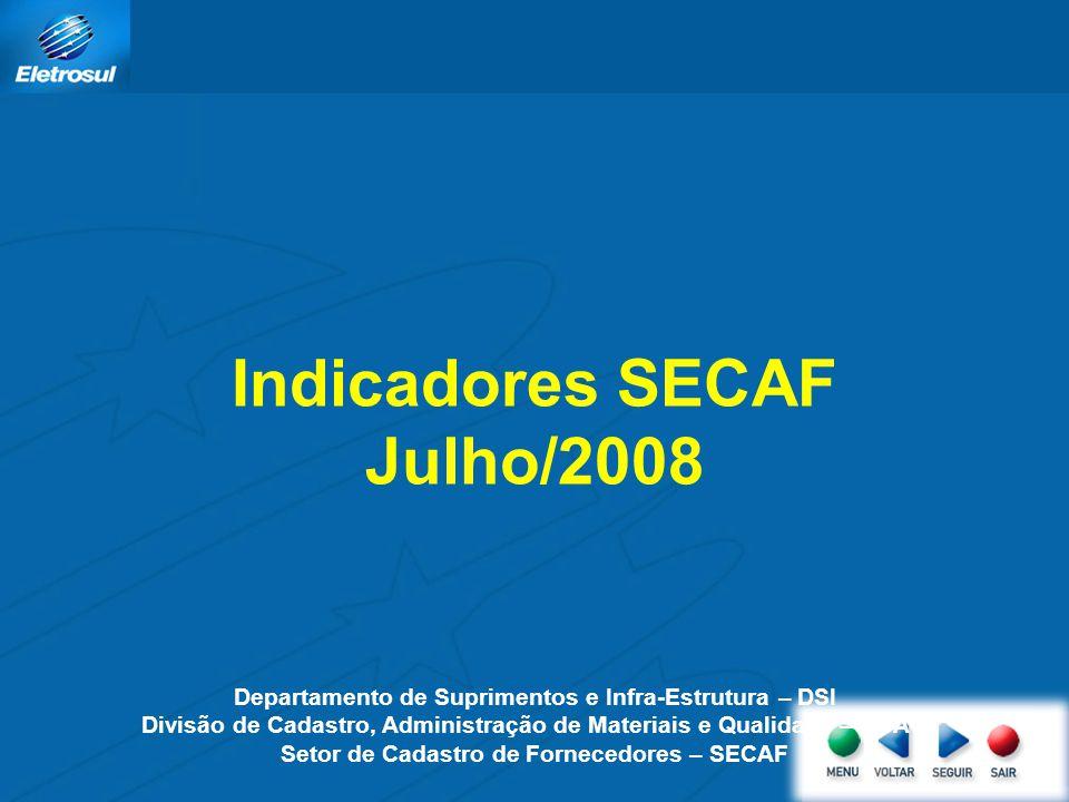 Indicadores SECAF Julho/2008