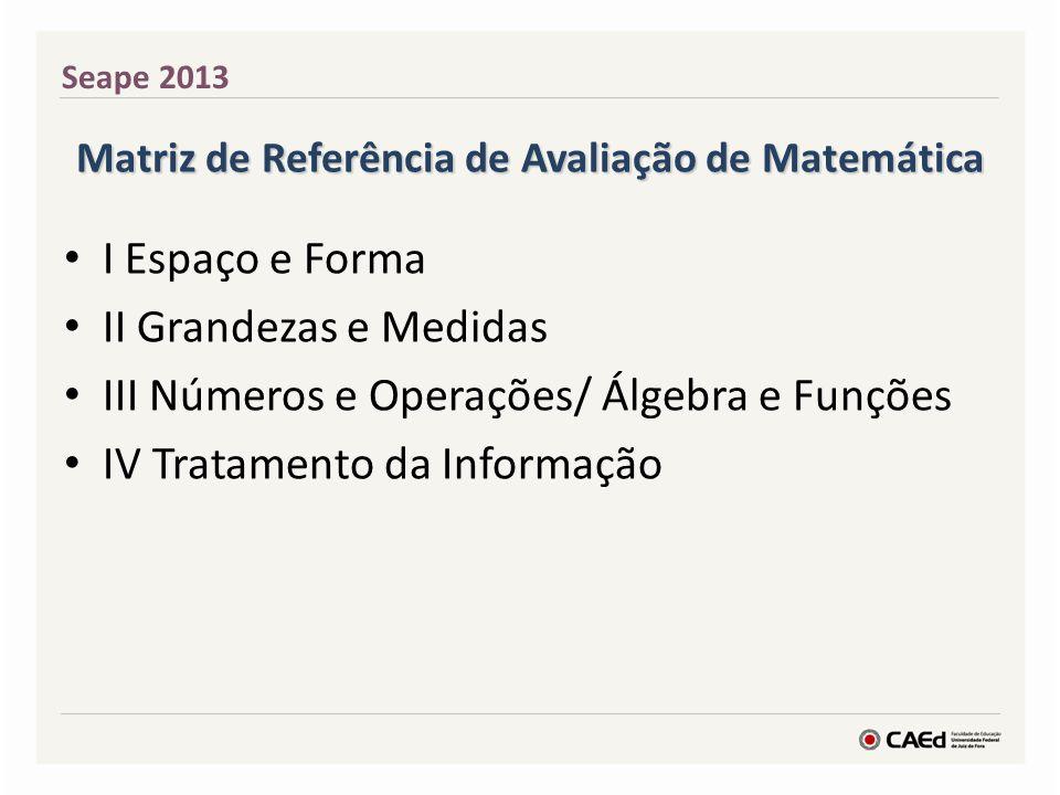 Matriz de Referência de Avaliação de Matemática