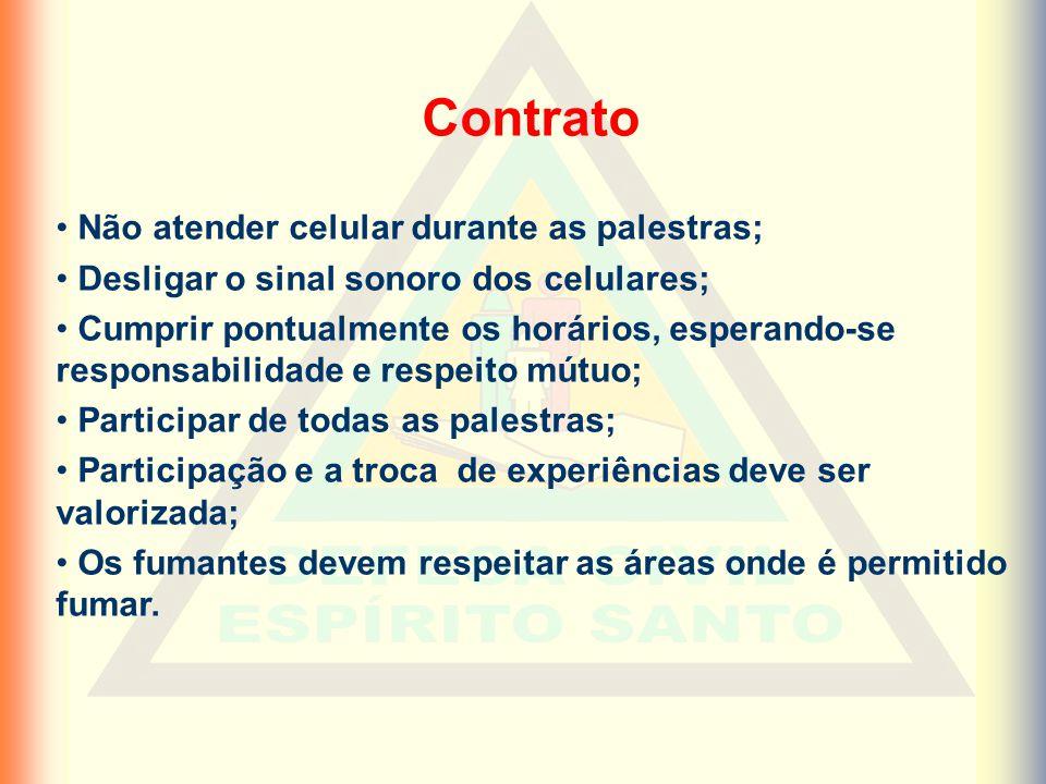 Contrato Não atender celular durante as palestras;