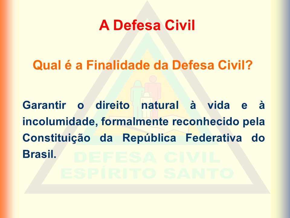 Qual é a Finalidade da Defesa Civil