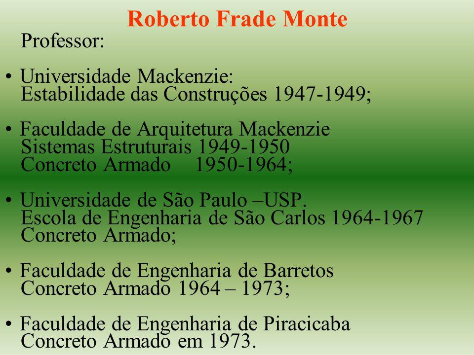 Roberto Frade Monte Professor: Universidade Mackenzie: