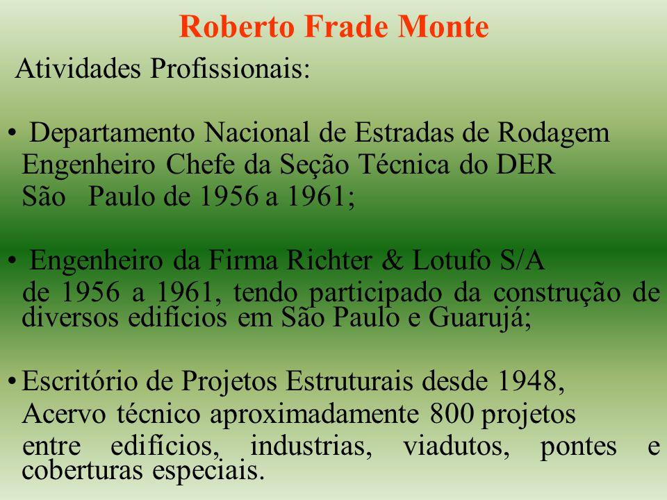 Roberto Frade Monte Atividades Profissionais: