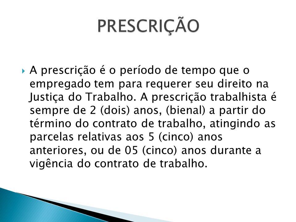 PRESCRIÇÃO