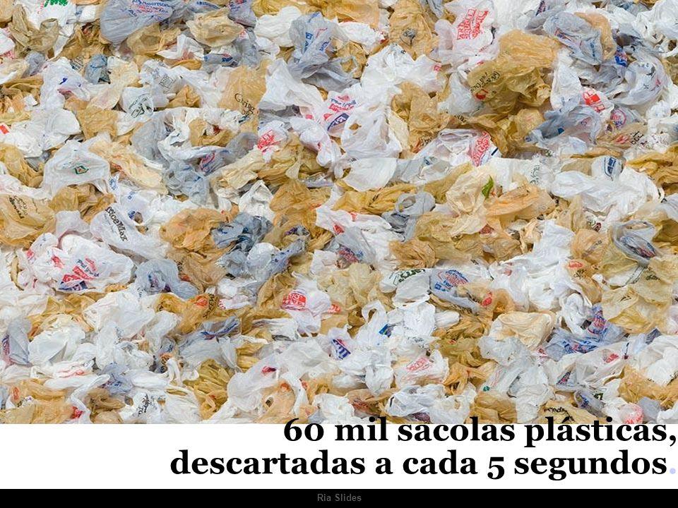 60 mil sacolas plásticas, descartadas a cada 5 segundos.