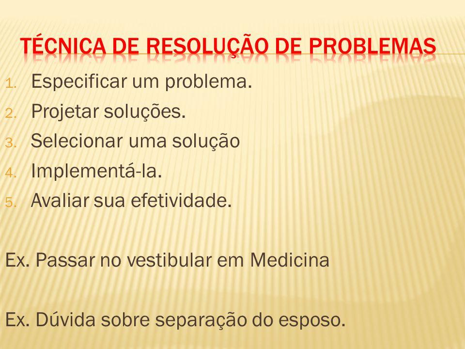 Técnica DE RESOLUÇÃO DE PROBLEMAS