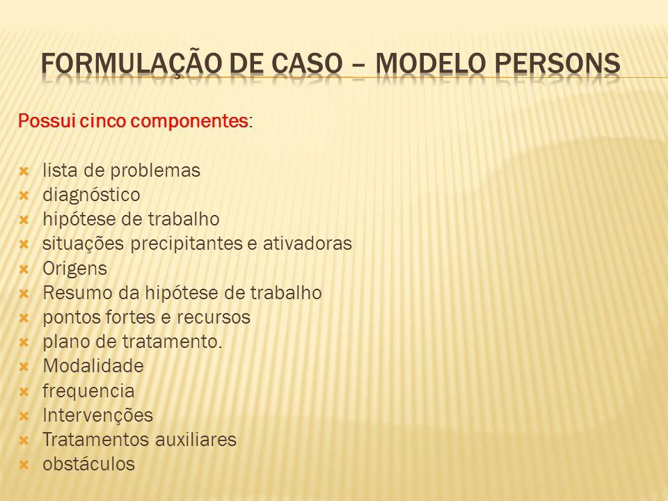 Formulação de caso – Modelo persons