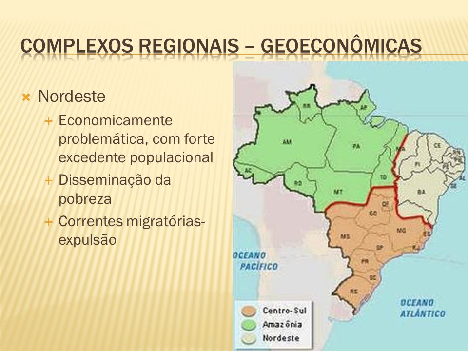 COMPLEXOS REGIONAIS – GEOECONÔMICAS