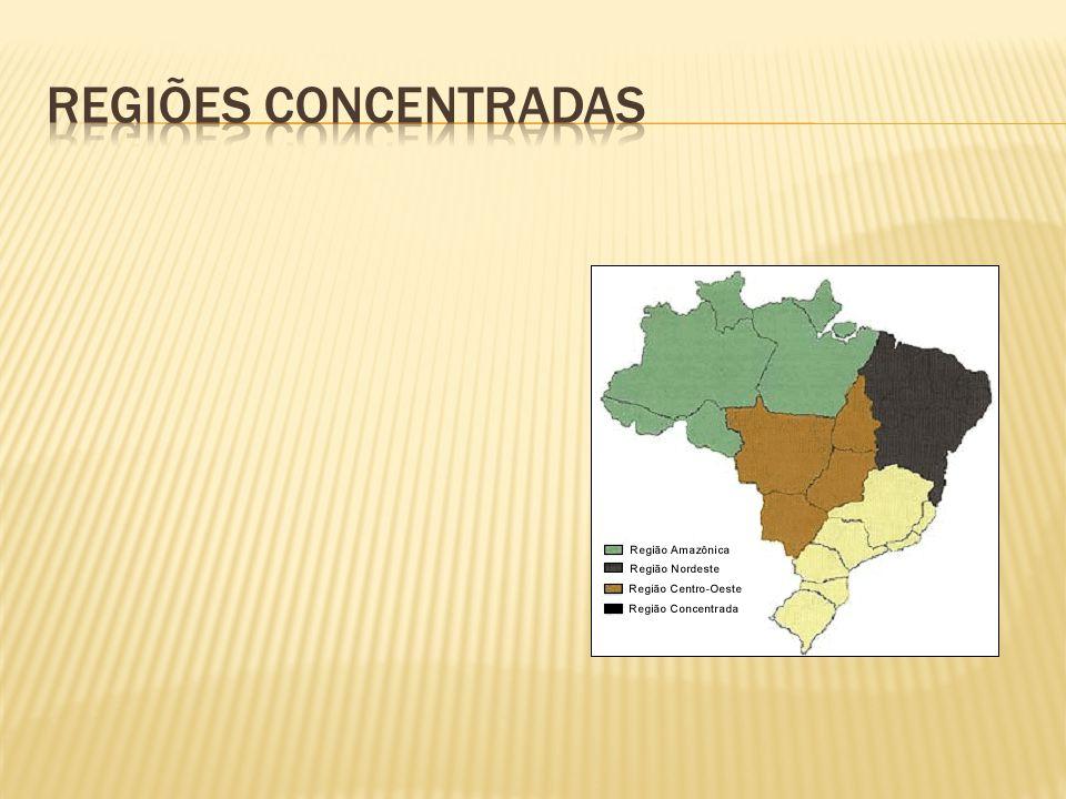Regiões concentradas