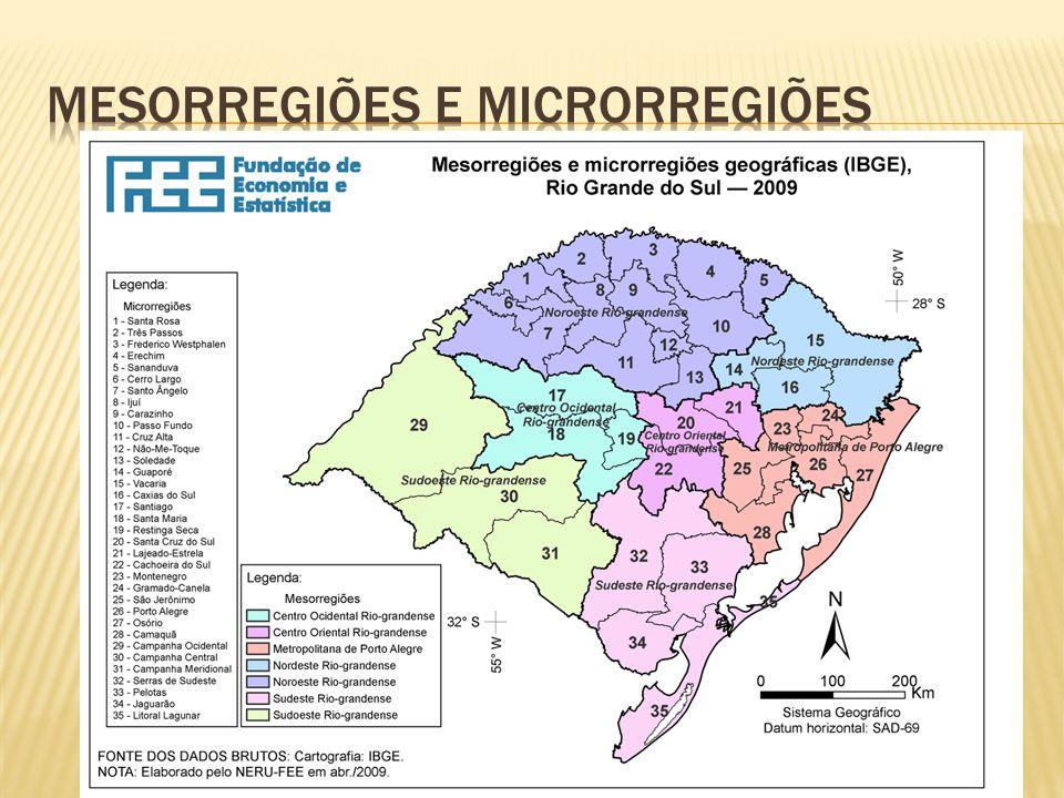 Mesorregiões e microrregiões
