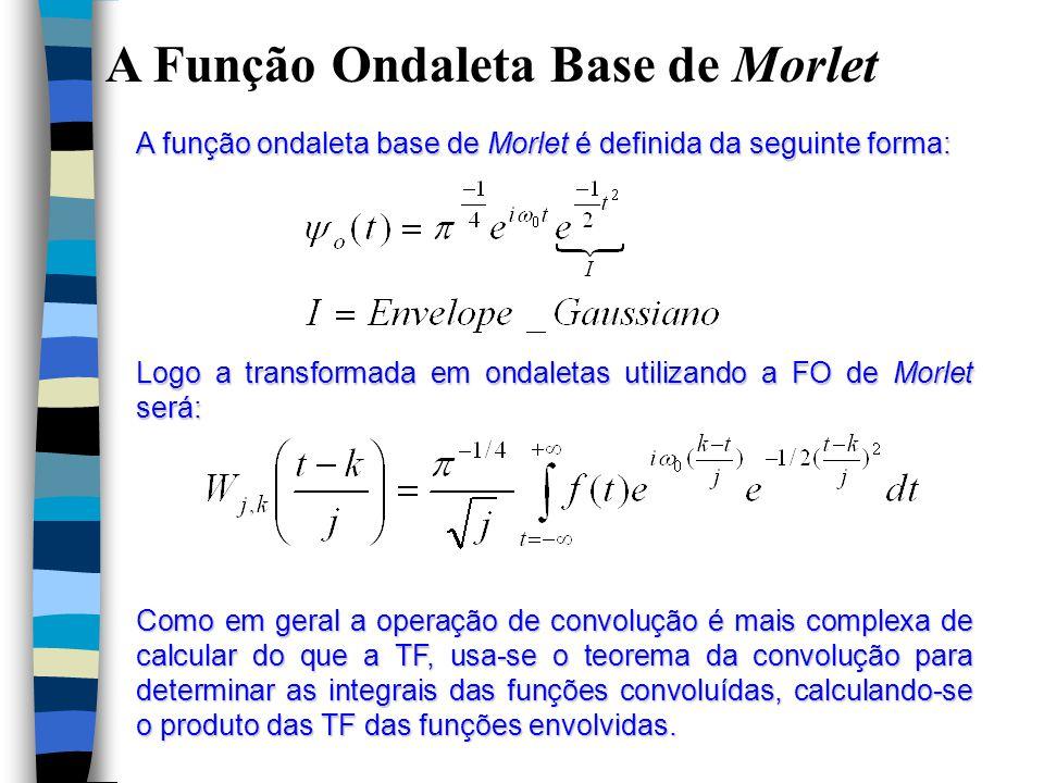 A Função Ondaleta Base de Morlet