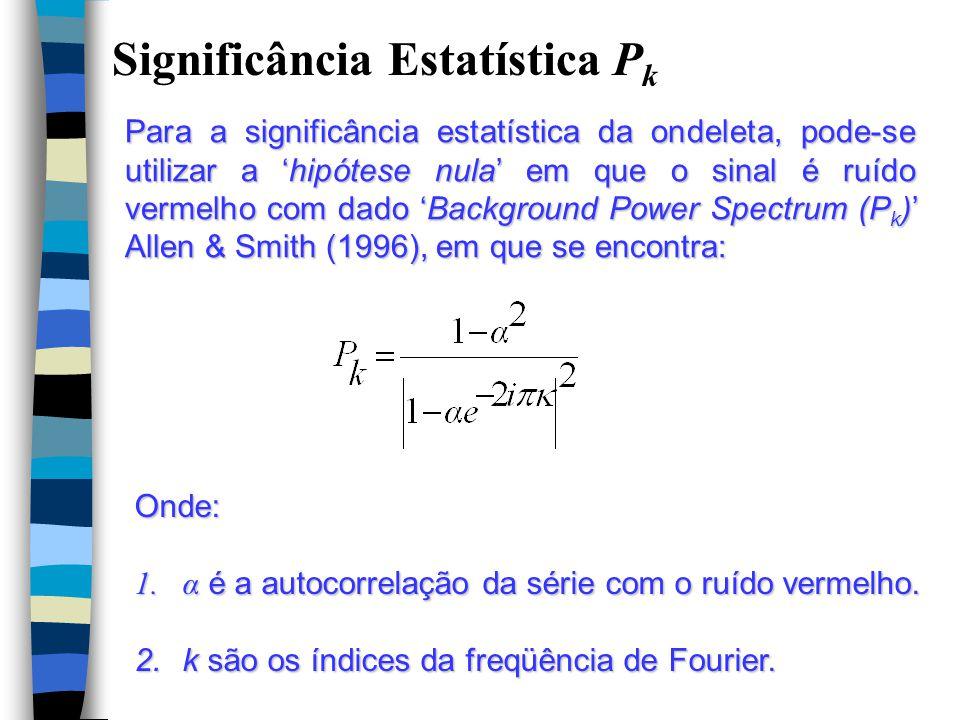 Significância Estatística Pk