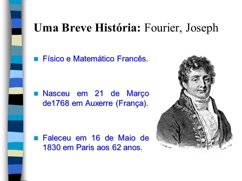 Uma Breve História: Fourier, Joseph