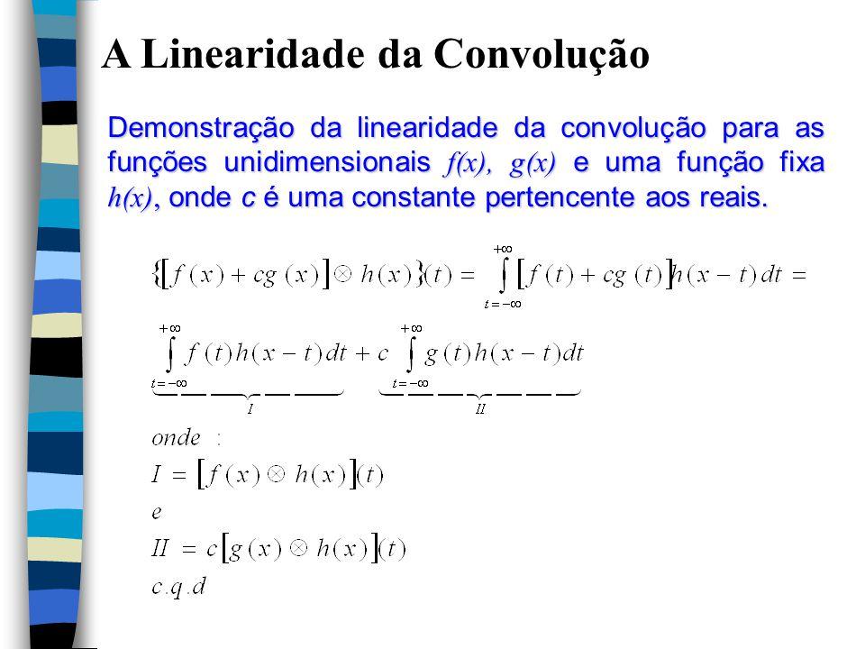 A Linearidade da Convolução