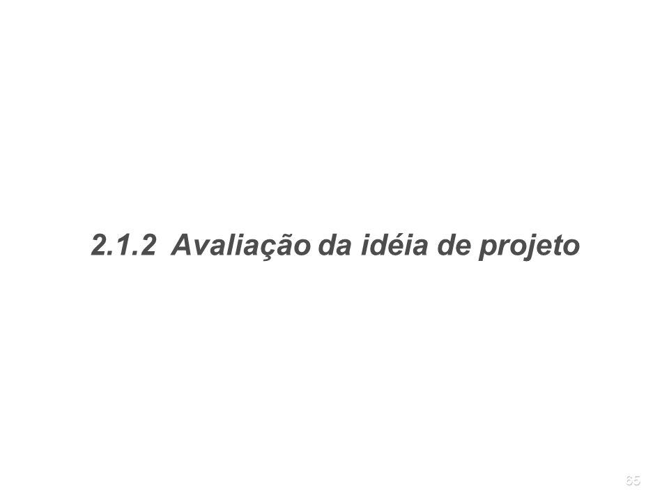 2.1.2 Avaliação da idéia de projeto
