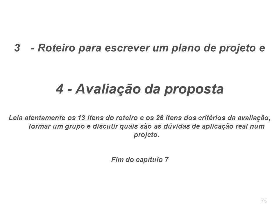 4 - Avaliação da proposta