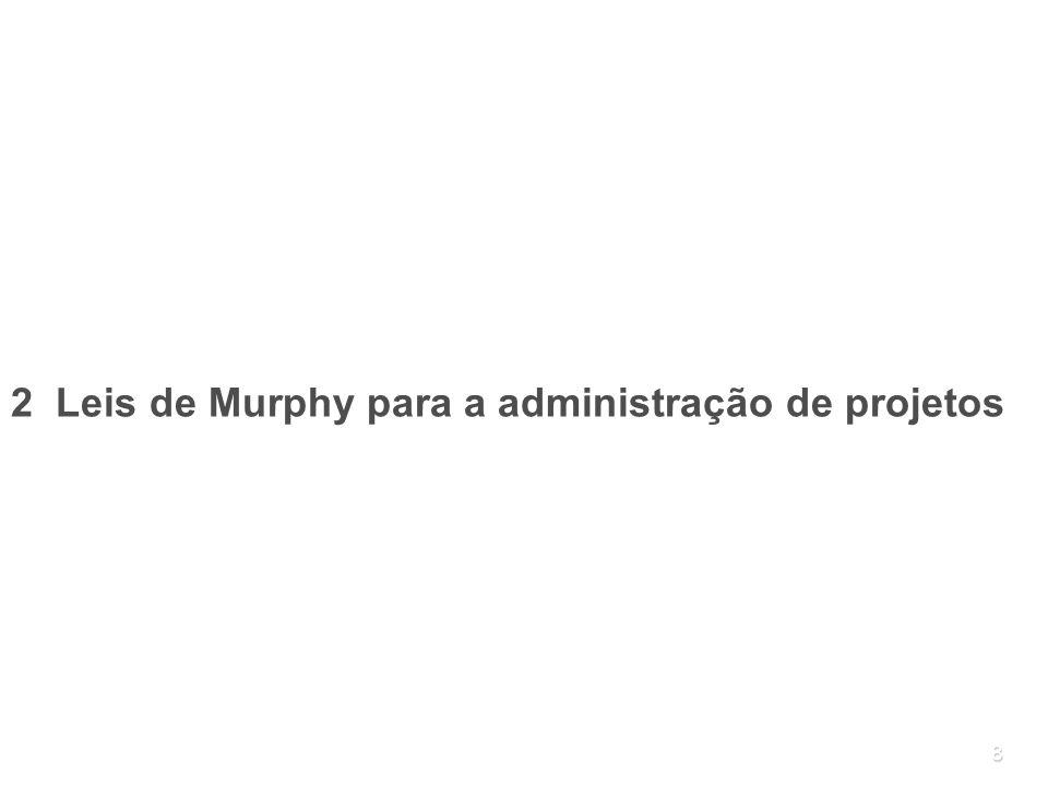 2 Leis de Murphy para a administração de projetos