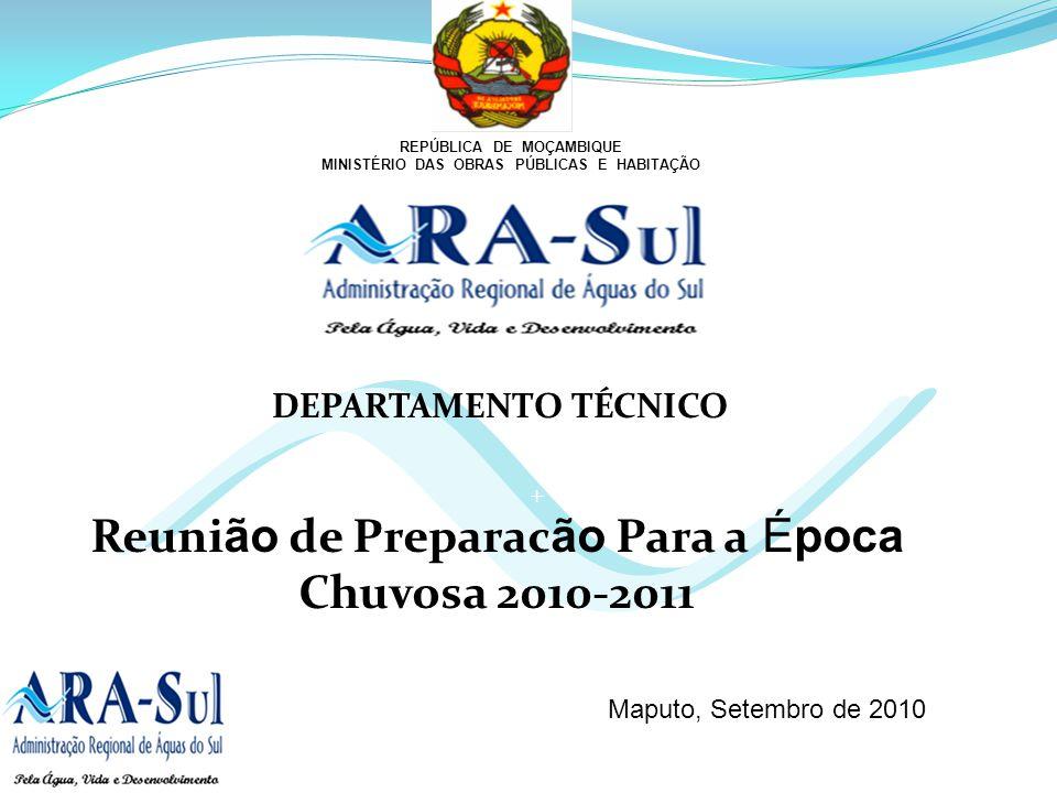 Reunião de Preparacão Para a Época Chuvosa 2010-2011