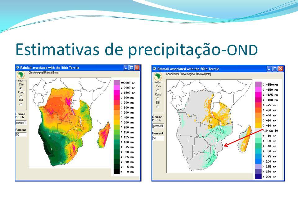 Estimativas de precipitação-OND