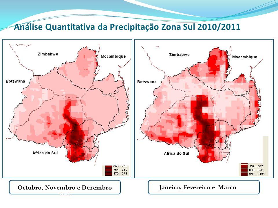 Análise Quantitativa da Precipitação Zona Sul 2010/2011