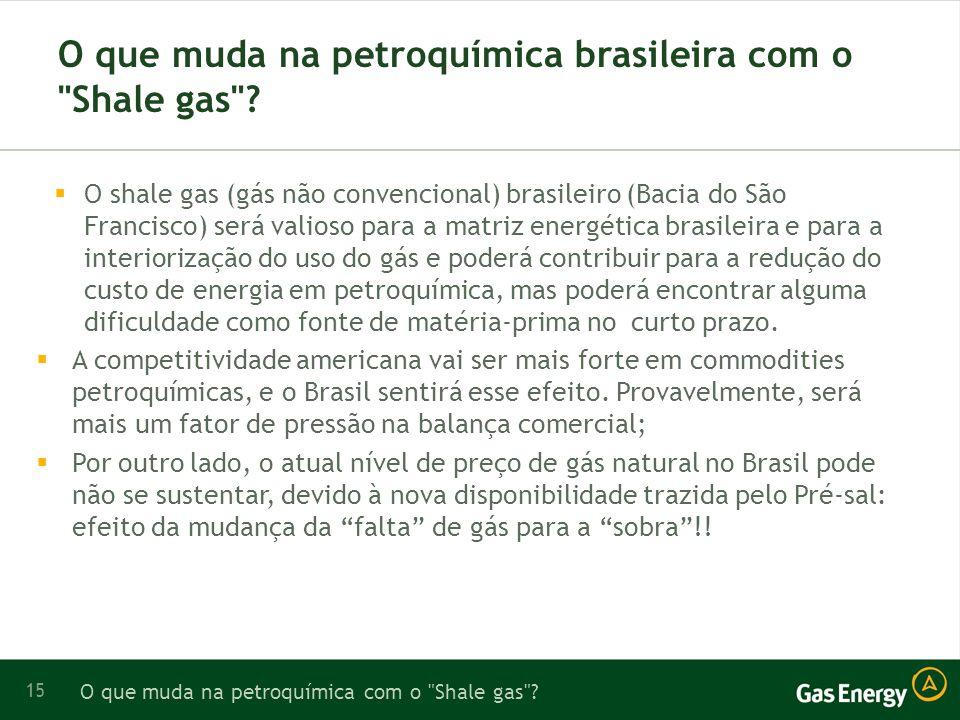 O que muda na petroquímica brasileira com o Shale gas