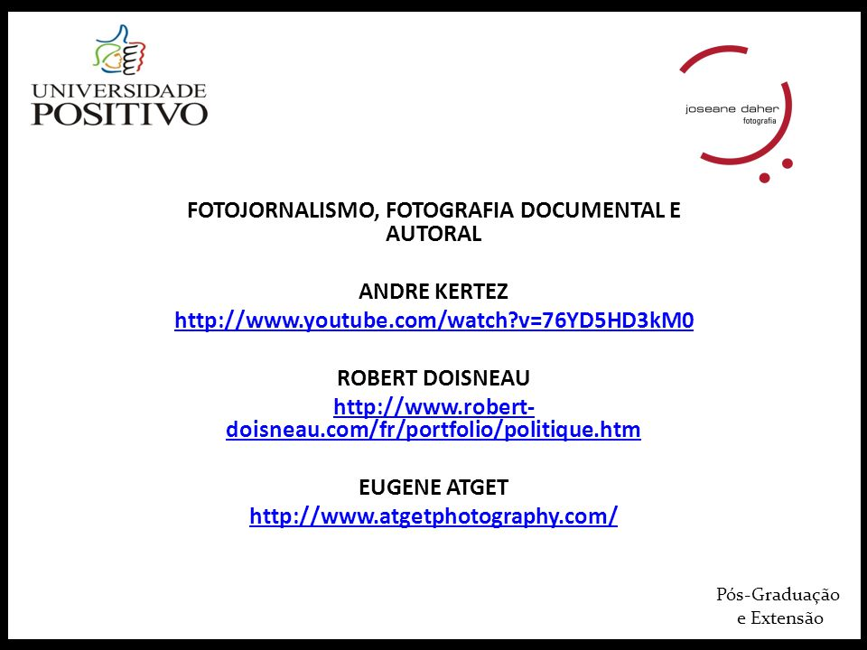 FOTOJORNALISMO, FOTOGRAFIA DOCUMENTAL E AUTORAL