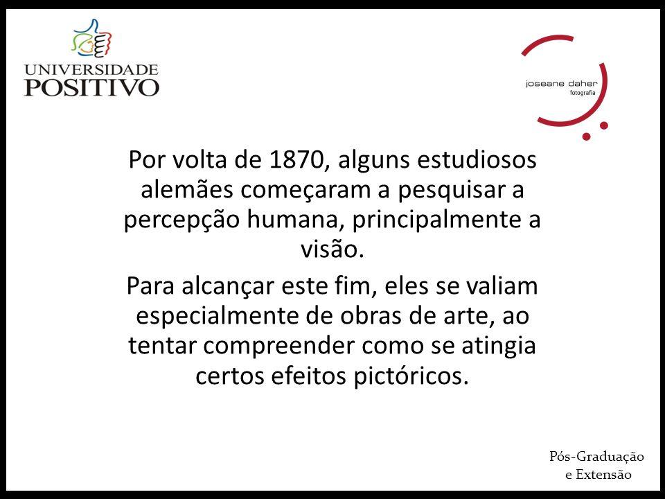 Por volta de 1870, alguns estudiosos alemães começaram a pesquisar a percepção humana, principalmente a visão.