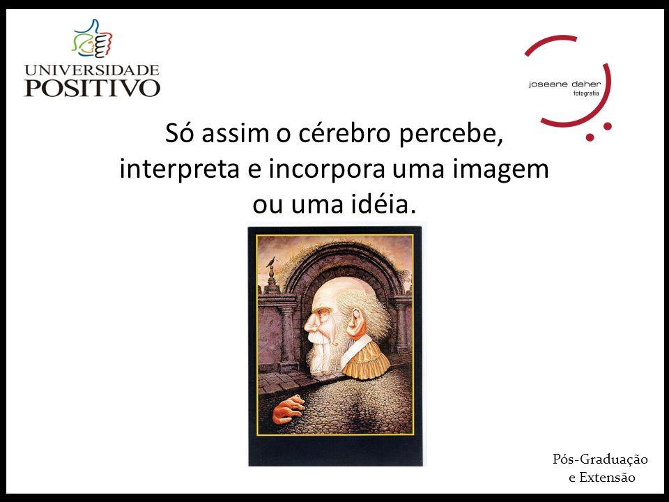 Só assim o cérebro percebe, interpreta e incorpora uma imagem ou uma idéia.