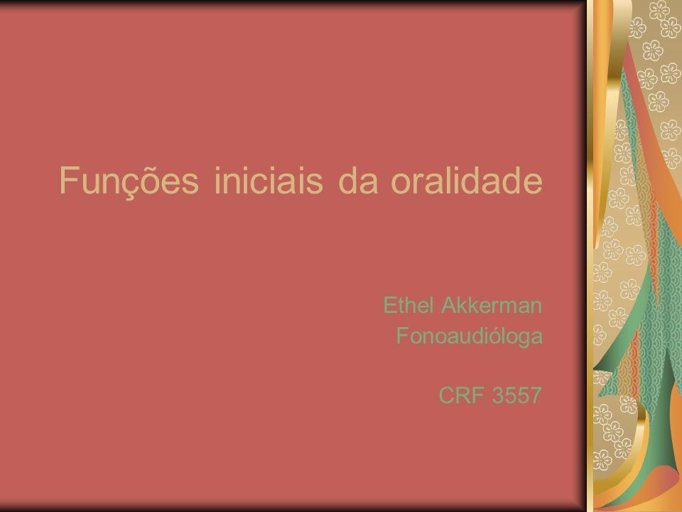 Funções iniciais da oralidade