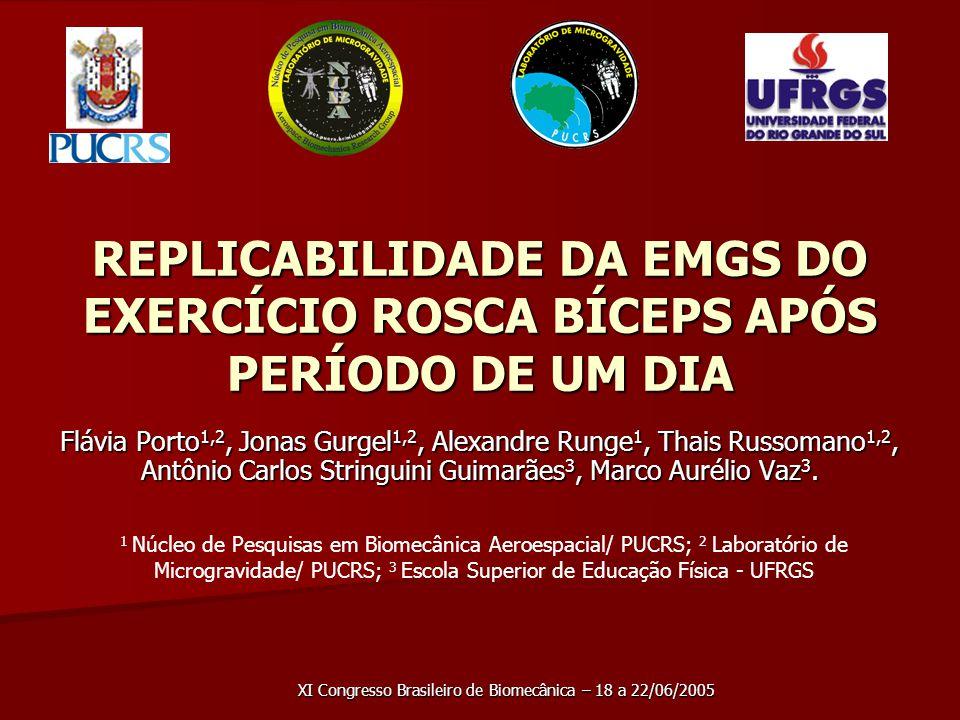 XI Congresso Brasileiro de Biomecânica – 18 a 22/06/2005