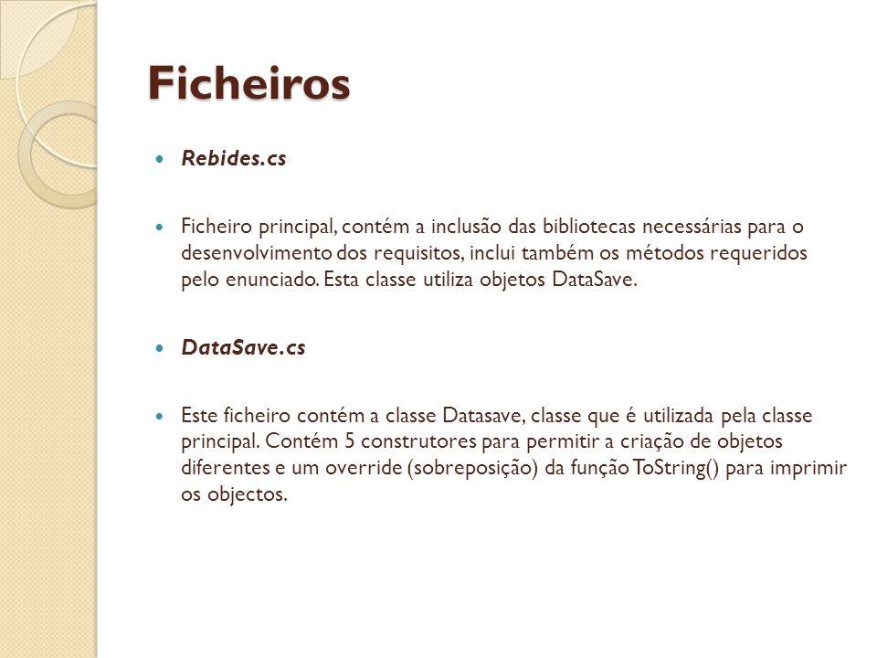 Ficheiros Rebides.cs DataSave.cs