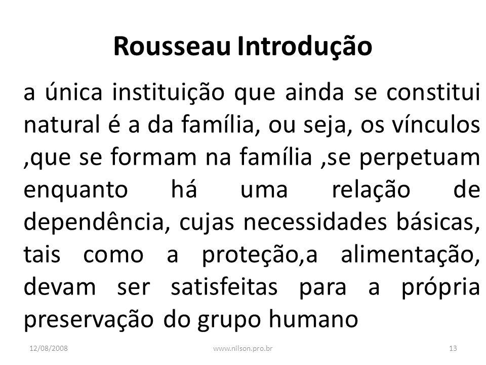 Rousseau Introdução