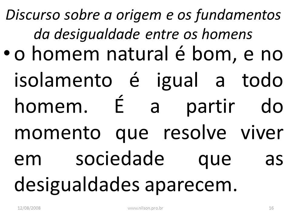 Discurso sobre a origem e os fundamentos da desigualdade entre os homens
