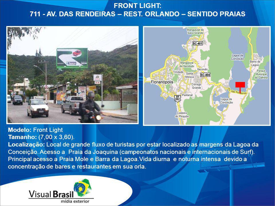 711 - AV. DAS RENDEIRAS – REST. ORLANDO – SENTIDO PRAIAS