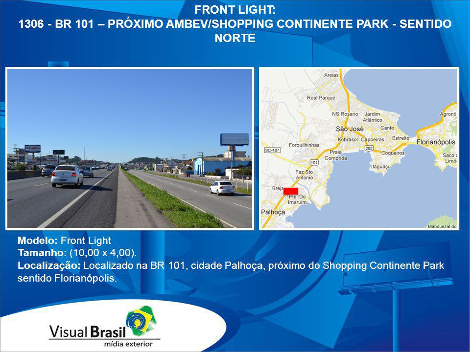 1306 - BR 101 – PRÓXIMO AMBEV/SHOPPING CONTINENTE PARK - SENTIDO NORTE