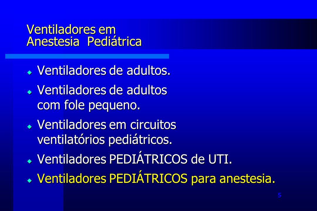Ventiladores em Anestesia Pediátrica