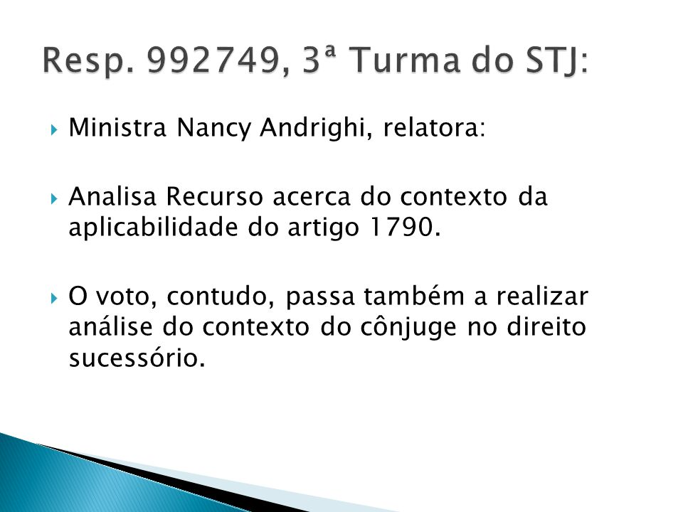 Resp. 992749, 3ª Turma do STJ: Ministra Nancy Andrighi, relatora: