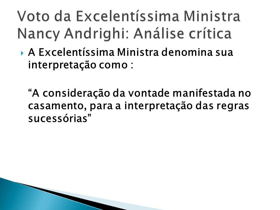 Voto da Excelentíssima Ministra Nancy Andrighi: Análise crítica